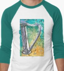 Harp Notes Men's Baseball ¾ T-Shirt