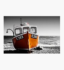 Fishing Boat on a Beach Photographic Print