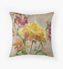 Empowered • Floral Painting by Rebecca Finch Throw Pillow