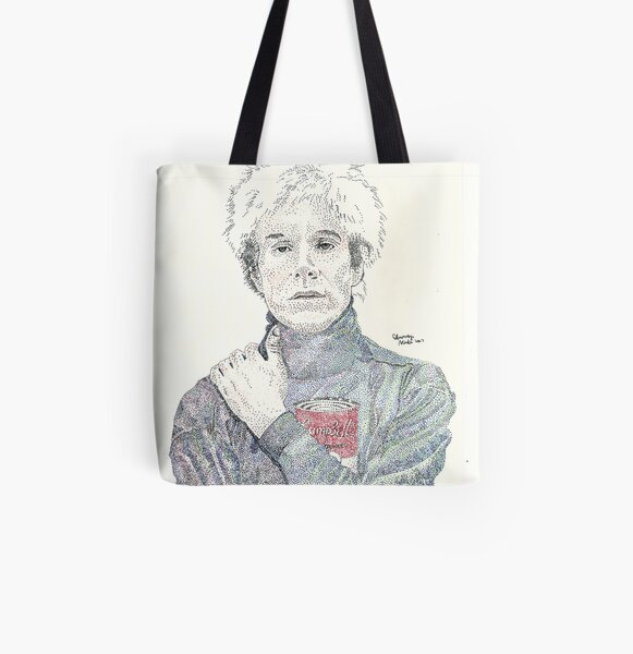 Andy Warhol pop art soup artist pointillism All Over Print Tote Bag