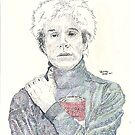 Andy Warhol pop art soup artist pointillism by tqueen