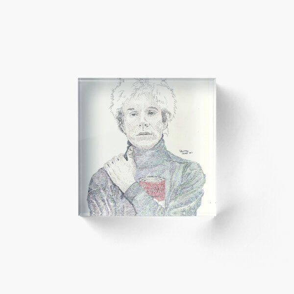 Andy Warhol pop art soup artist pointillism Acrylic Block