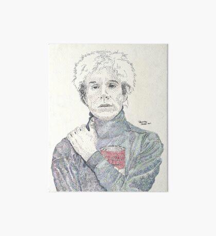 Andy Warhol pop art soup artist pointillism Art Board Print