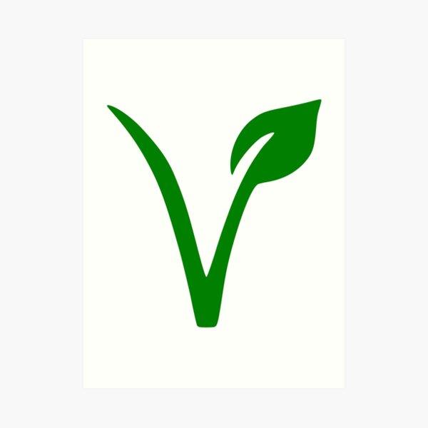 Veganes und vegetarisches Symbol Kunstdruck