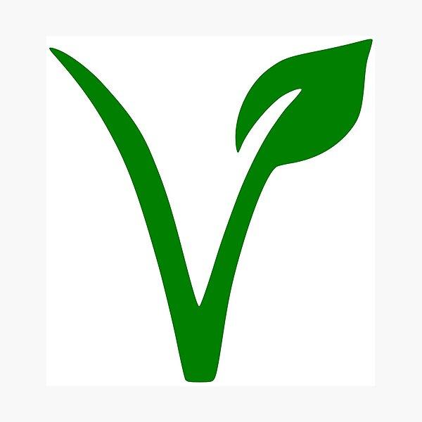 Vegan and Vegetarian Symbol Photographic Print