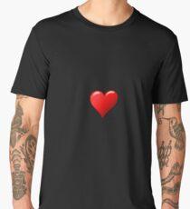 Red Love Heart Fun Friend Cute Shirt Men's Premium T-Shirt