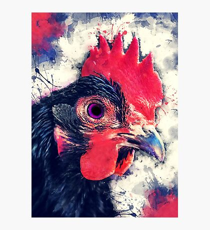 rooster art #rooster #animals Photographic Print