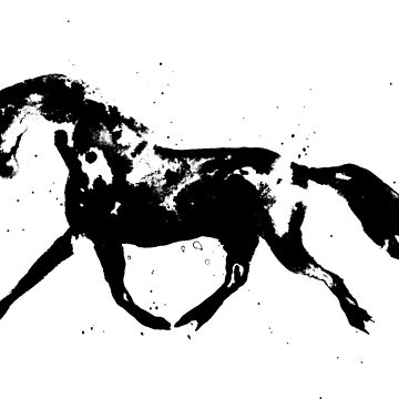 Trotting Horse Silhouette by khelland