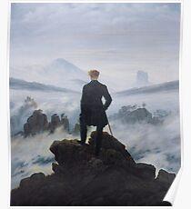 Wanderer above the Sea of Fog by Caspar David Friedrich Poster
