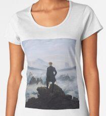 Wanderer above the Sea of Fog by Caspar David Friedrich Women's Premium T-Shirt