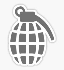 Grenade, It's Da Bomb, Old Fashion Grenade, WWII Sticker