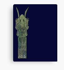 Cthulhu Statue - Art by Andrey Fetisov Canvas Print