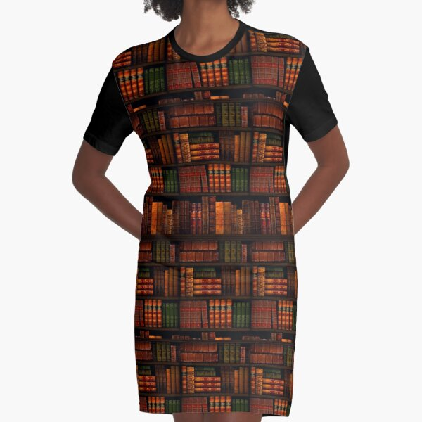Books - Library - Books - Bookworm - Reading - Bibliophile - Book Bag - Dress - Shirt Graphic T-Shirt Dress