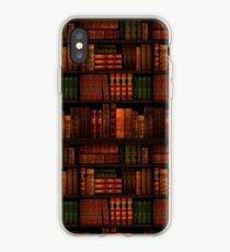 Vinilo o funda para iPhone Libros - Biblioteca - Libros - Ratón de biblioteca - Lectura - Bibliófilo - Bolsa de libros - Vestido - Camisa