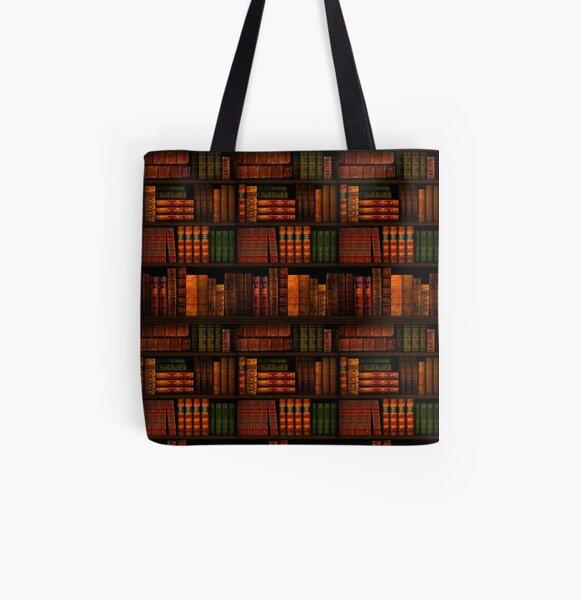 Libros - Biblioteca - Libros - Ratón de biblioteca - Lectura - Bibliófilo - Mochila - Vestido - Camisa Bolsa estampada de tela