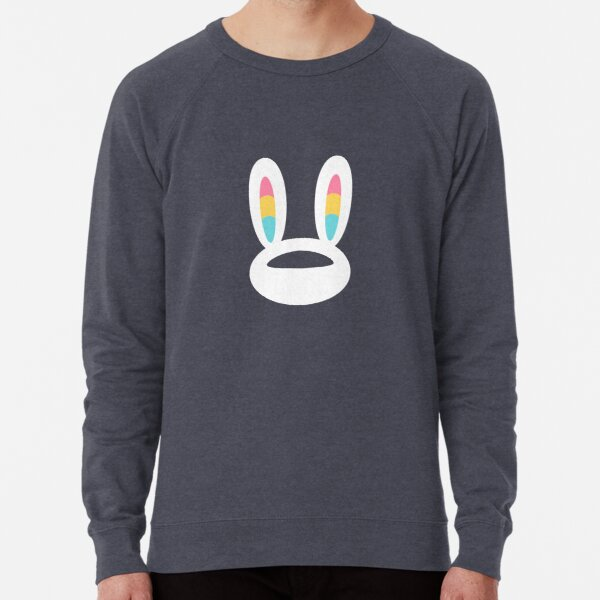 Pogo Space Bunny White Lightweight Sweatshirt