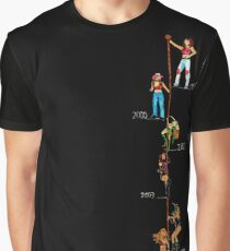 Timeline Pole Graphic T-Shirt