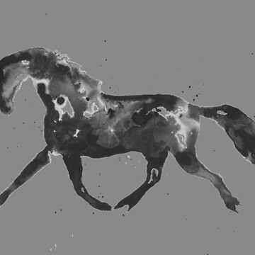Trotting Horse Silhouette (Grey) by khelland