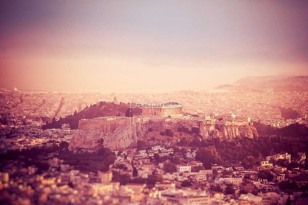 Sunset Over Athens by DebraCox