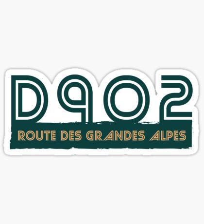 D902 Route des Grandes Alpes T-Shirt Sticker Design S02 Sticker