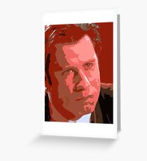 John Travolta - Vincent Vega Greeting Card