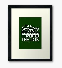 Sherlock - Consulting detective Framed Print