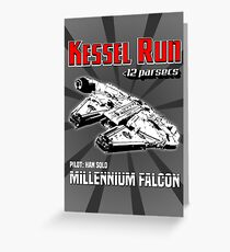Kessel Run - Millennium Falcon Greeting Card