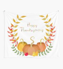 Thanksgiving greeting card Wall Tapestry