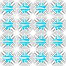 Blue and grey geometric pattern by ikshvaku