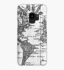 Black and White World Map (1760) Case/Skin for Samsung Galaxy