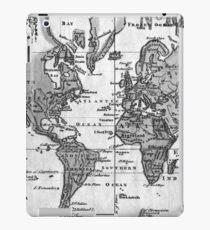 Black and White World Map (1760) iPad Case/Skin