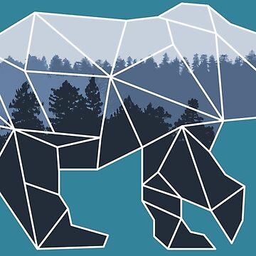 Geometric Bear by Schyljuk