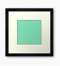 Mint Pattern Framed Print
