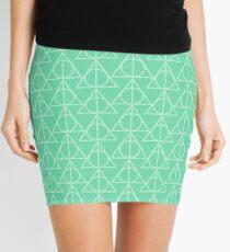 Mint Pattern Mini Skirt