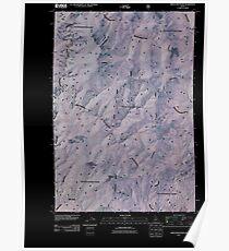 USGS TOPO Map Idaho ID Green Mountain 20110121 TM Inverted Poster