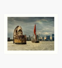Icons of the Thames London Art Print