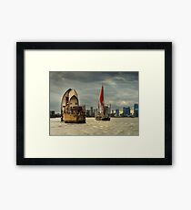 Icons of the Thames London Framed Print