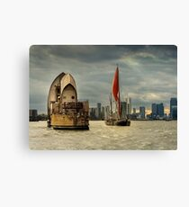 Icons of the Thames London Canvas Print