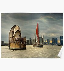 Icons of the Thames London Poster