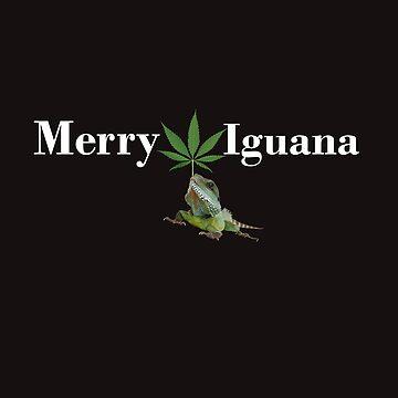 Merry Iguana Marijuana Pot Funny by thewildconman