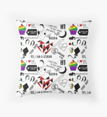 Wentworth Collage Throw Pillow