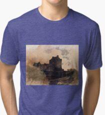 Eilean Donan Castle Kyle of Lochalsh Scotland Tri-blend T-Shirt