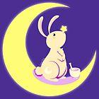 Kawaii fantasy animals - Moon Rabbit by SilveryDreams