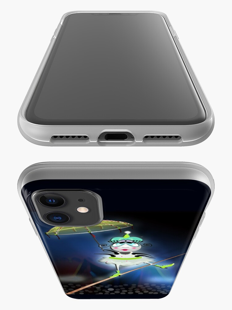 Alternate view of The Flea Circus - The Tightrope Walker Flea iPhone Case & Cover