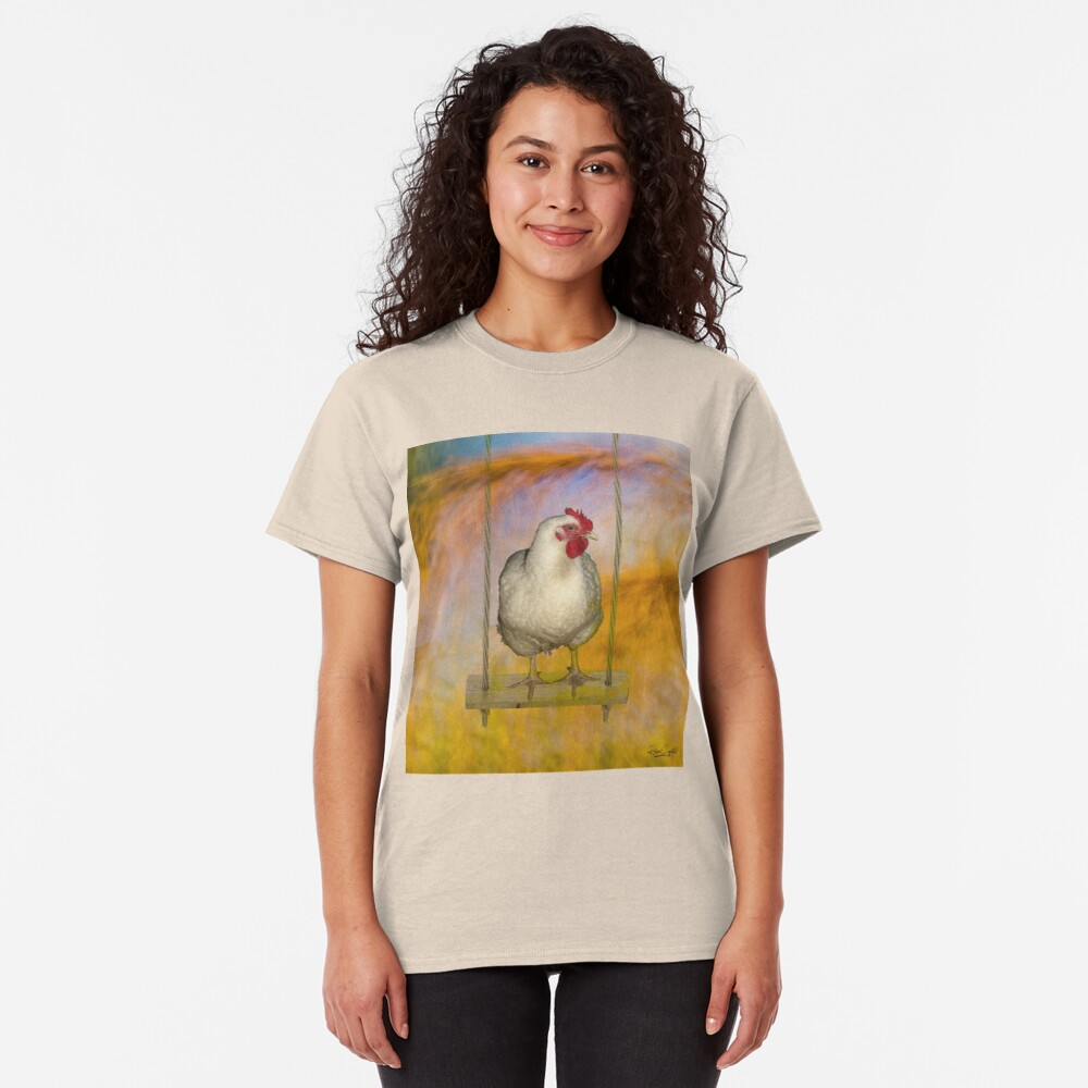 Just a Chicken on a Swing Classic T-Shirt