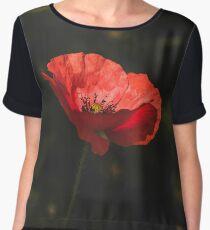 A Lonely Poppy Women's Chiffon Top