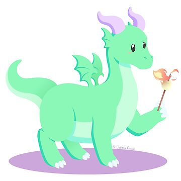 Kawaii fantasy animals - European Dragon by SilveryDreams
