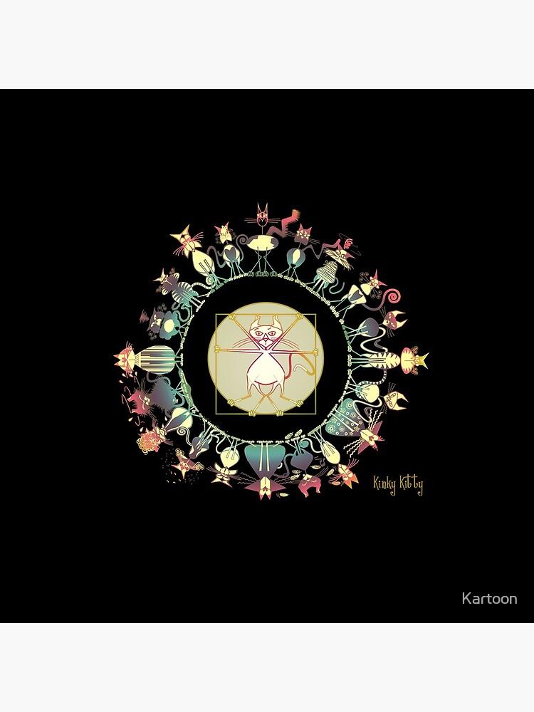 KINKY KITTY - Kinky Mandala Rainbow by Kartoon