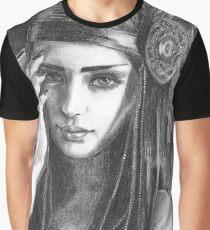 Native American Goddess Art Evaki Portrait  Graphic T-Shirt