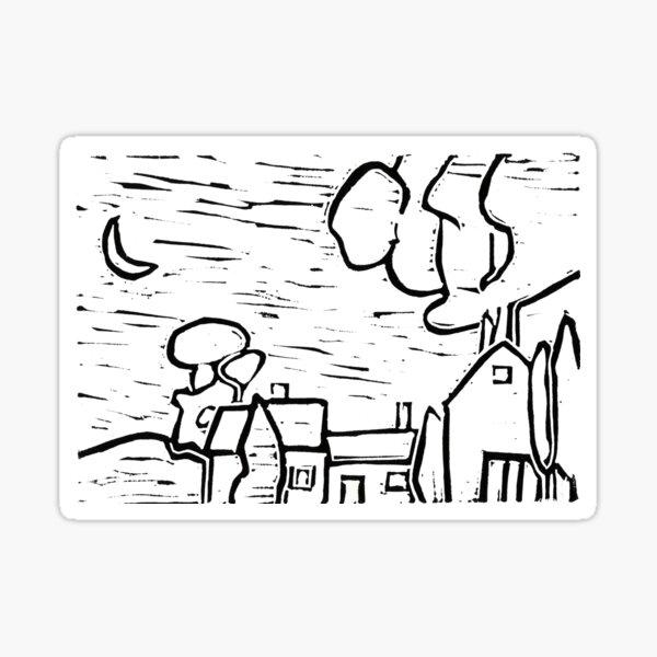 Twilight at the Oaks Sticker